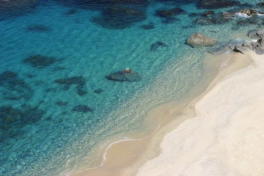 The sea in Calabria